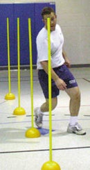 Obstacle Poles & Bases - Set of 4