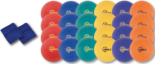 "8 1/2"" Colored Playground Ball Pack - 26 pieces"