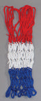 4mm Economy Basketball Net - Red/White/Blue