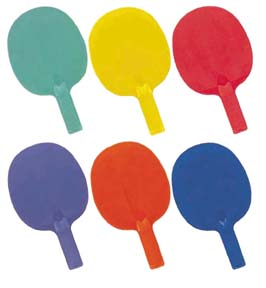 Economy 6-Color Table Tennis Paddle Set