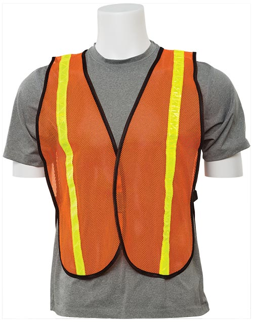 Economy Reflective Mesh Vest - Orange w/ Yellow