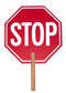 "13"" Crossing Guard Paddle Stop Sign"