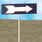 "13"" x 4"" Turn Arrow Sign w/ 84"" Post"