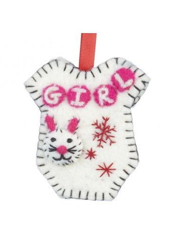 Girl Onesie Hanging Decoration