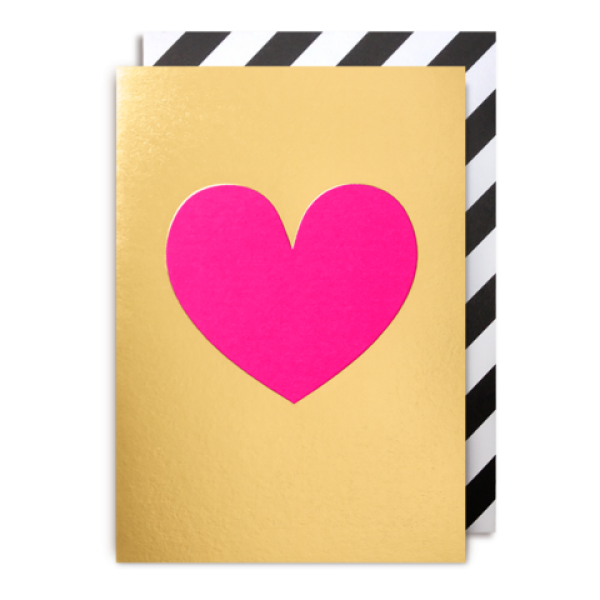 Pink Heart Gold Card Postco