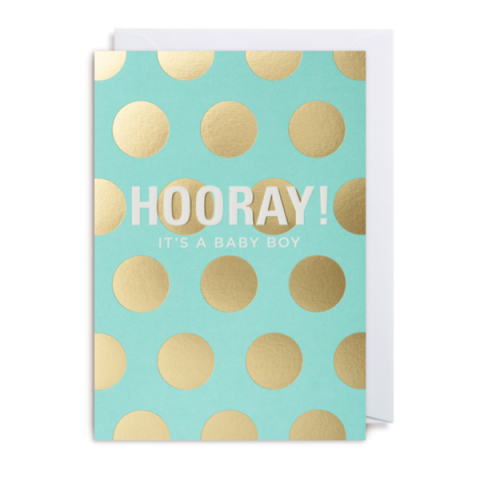 Hooray Baby Boy Card