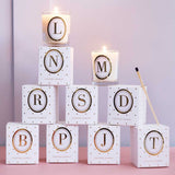 Alphabet Votive Candles