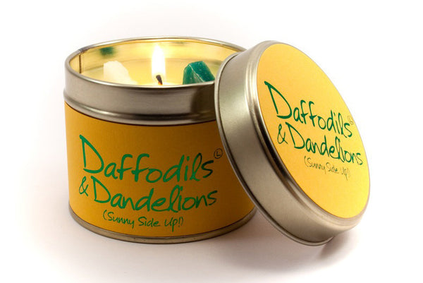 Daffodils And Dandelions Tin Candle