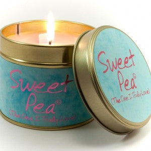 Sweet Pea Tin Candle