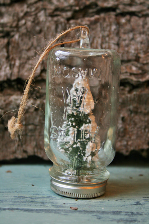 Mini Mason Jar with Tree