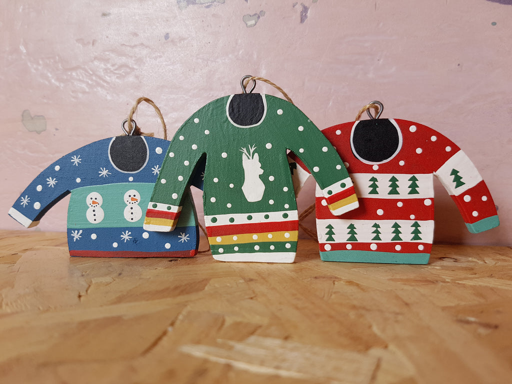 Wooden Christmas Jumpers