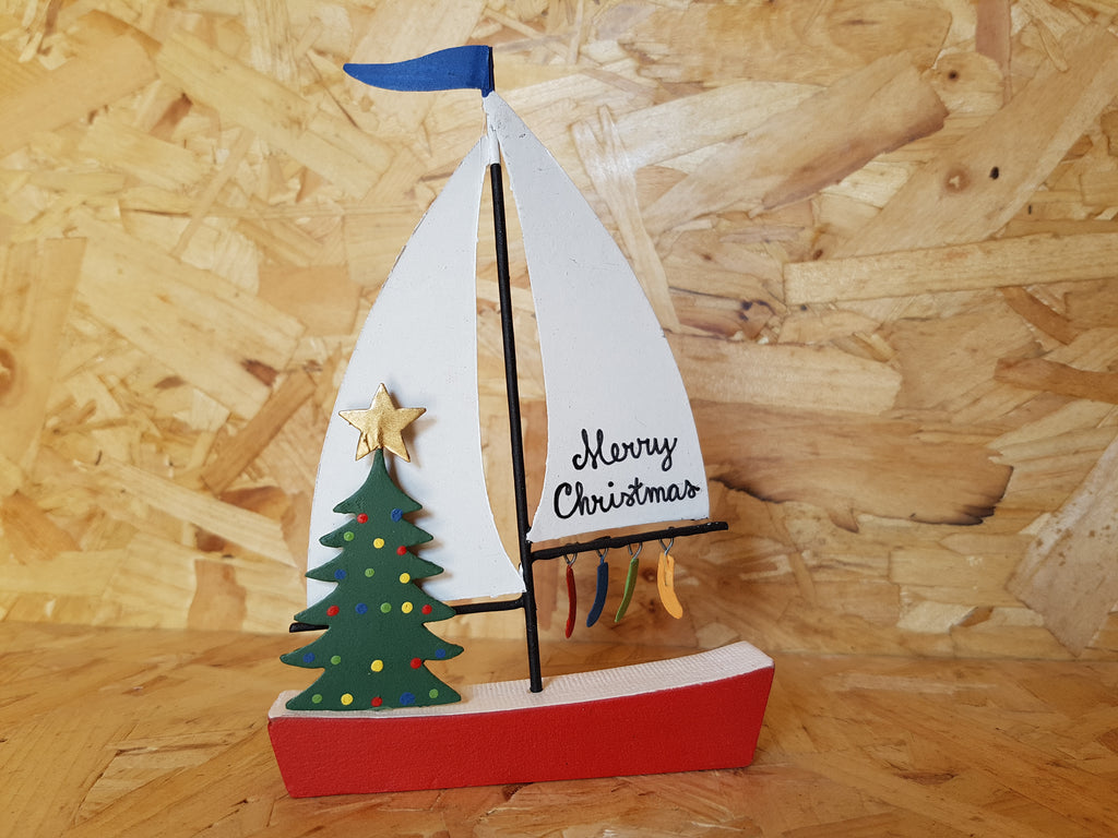 Merry Christmas Sailboat Picture