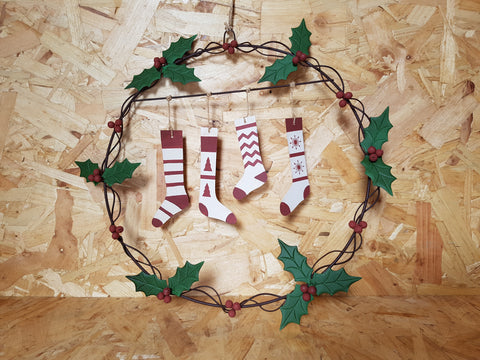 Hanging Stocking Wreath Picture