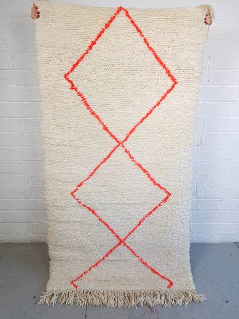 Original Moroccan Rug Orange Diamond