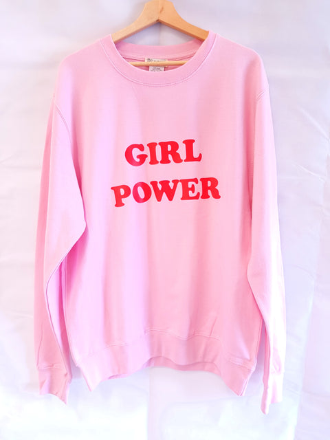 Girl Power Pink Sweatshirt
