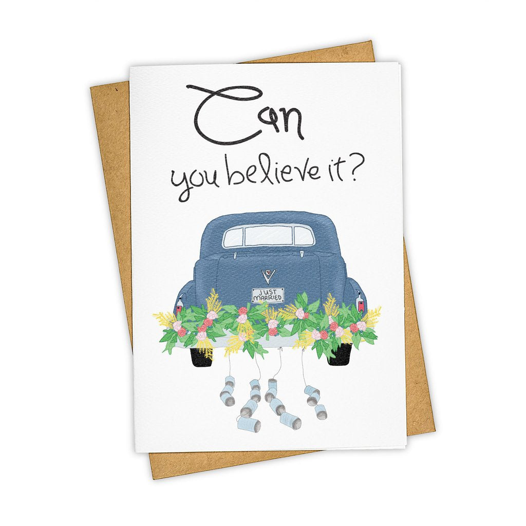 Can You Believe It? Wedding Card