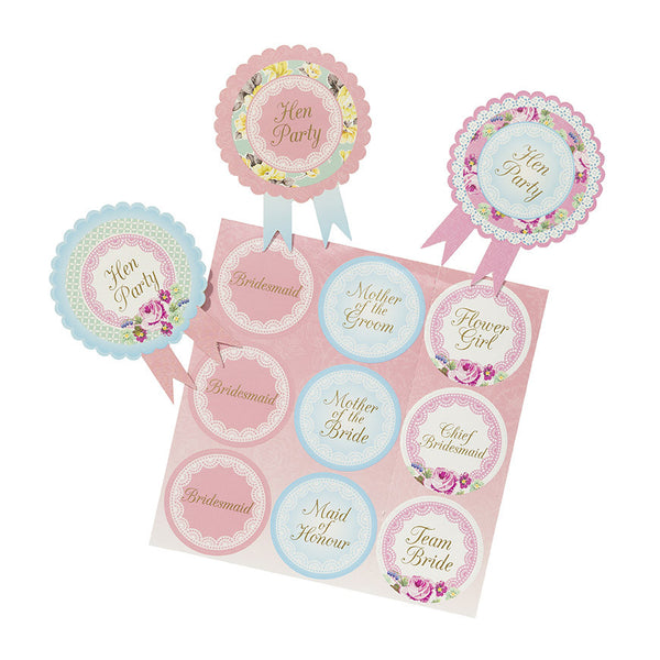Hen Party Badges Pastel