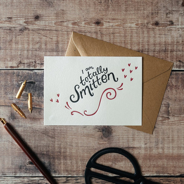 Totally Smitten Letterpress Card