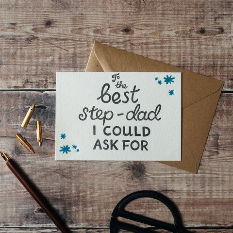 Best Step-Dad Letterpress Card#