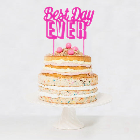 Best Day Ever Acrylic Cake Topper