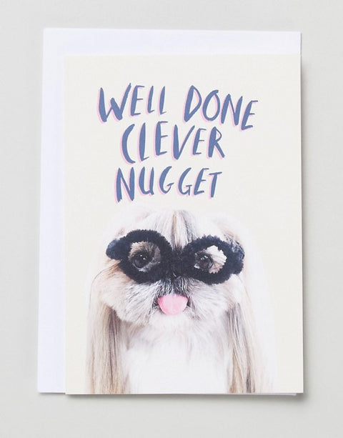 Well Done Clever Nugget Card