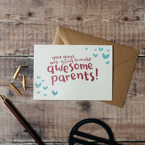 Awesome Parents Letterpress Card
