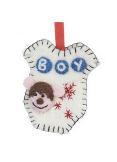 Felt Boy Onesie Hanging Decoration