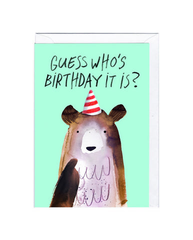 Guess Who's Birthday It Is Card, Jolly Awesome