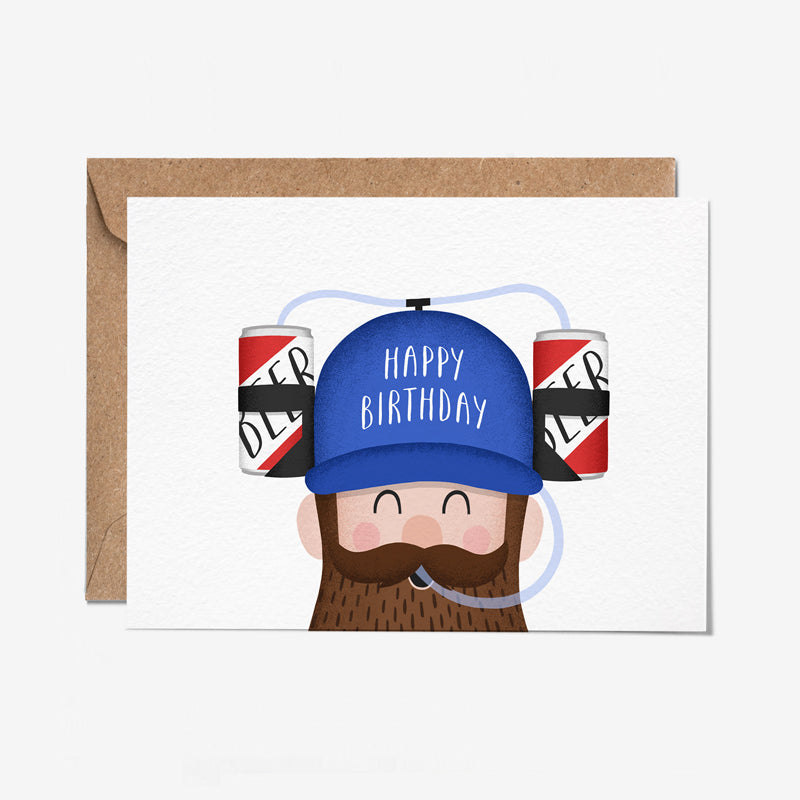 Happy Birthday Beer Hat Card