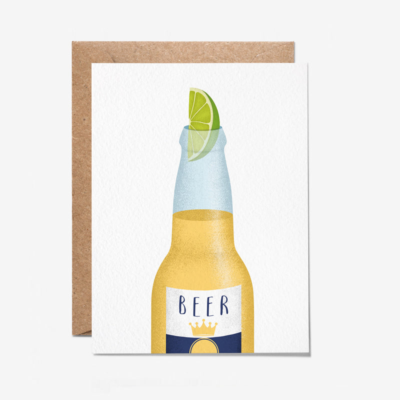 Beer Bottle Greeting Card