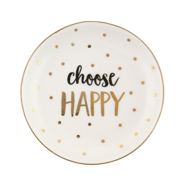 Choose Happy Trinket Dish