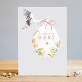A New Little Baby Stork Card
