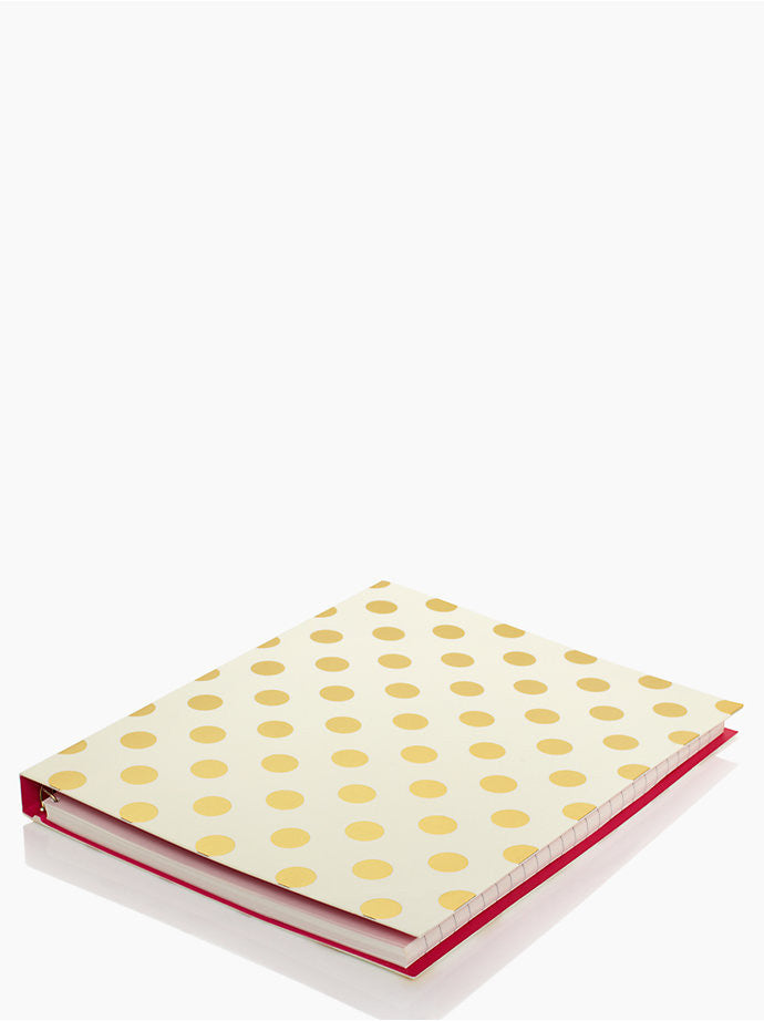 Gold Pavillion Spiral Notebook by Kate Spade