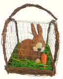 Rabbit in Wire Cage