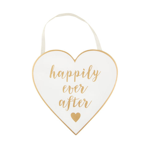 Happily ever After Heart Plaque