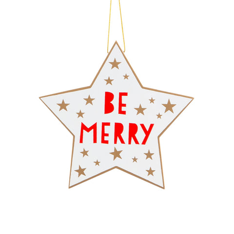 Be Merry Christmas Star