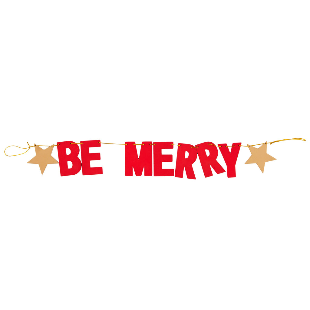 Be Merry Wooden Christmas Bunting