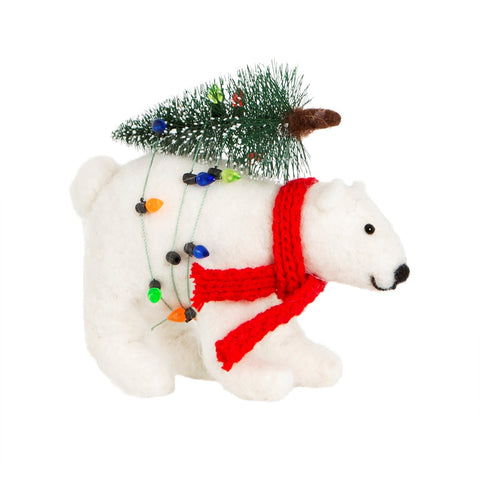 Polar Bear with Christmas Tree