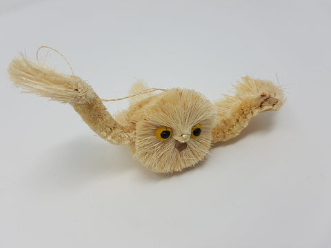 Owl Brush Animal, white.