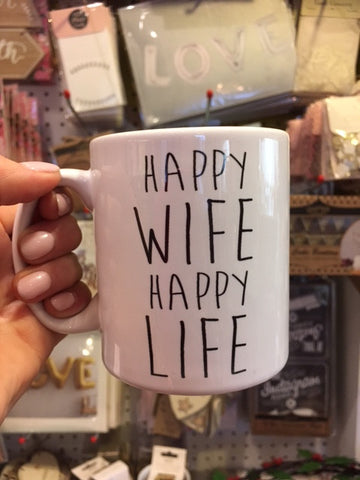 Happy Wife Happy Life Mugs