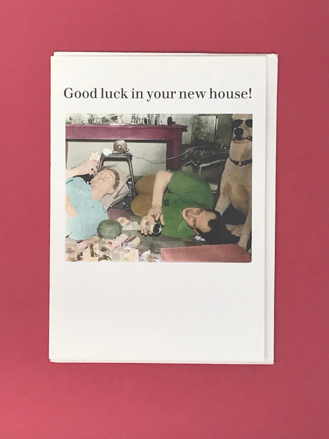 Good Luck In Your New House Card - Ex Display