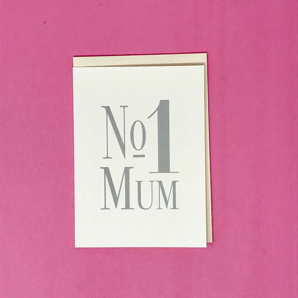 No.1 Mum Greeting Card