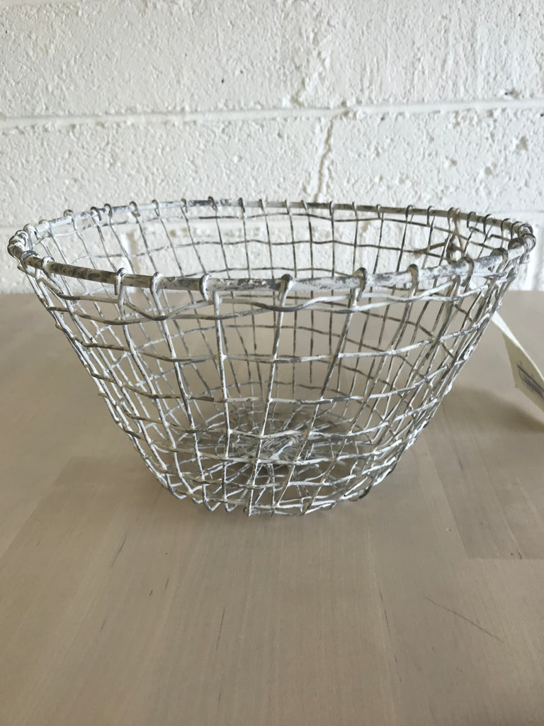 White Metal Fruit Bowl