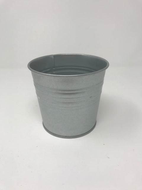 Silver Plant Pot - EX DISPLAY