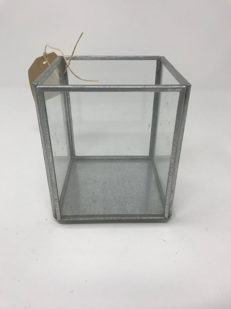 Silver Tin/Glass Container - EX DISPLAY