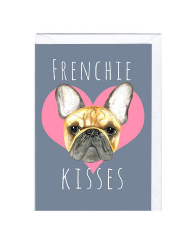 Frenchie Kisses Card, Jolly Awesome