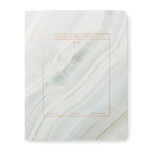 Marble Print Grey Notebook