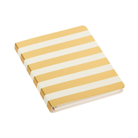 Kate Spade Concealed Spiral Notebook Gold & White