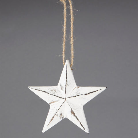 White Wooden Christmas Star