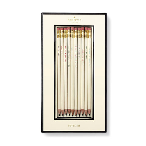 Kate Spade Pencil Set, What's The Word